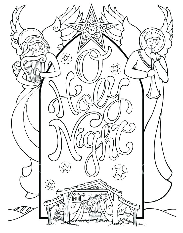 736x936 Christmas Scene Coloring Pages Woods Colouring Page Christmas