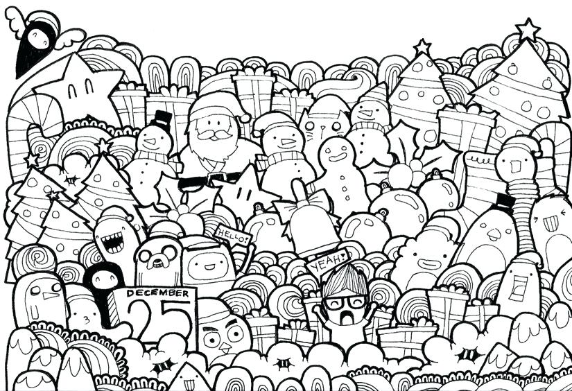825x564 Christmas Scenes To Color Adult Coloring Page Christmas Nativity