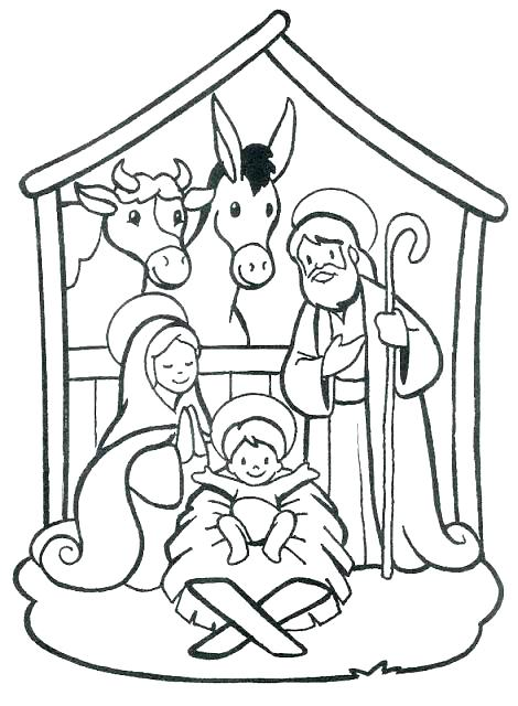 470x640 Coloring Pages Nativity Nativity Color Page Nativity Coloring