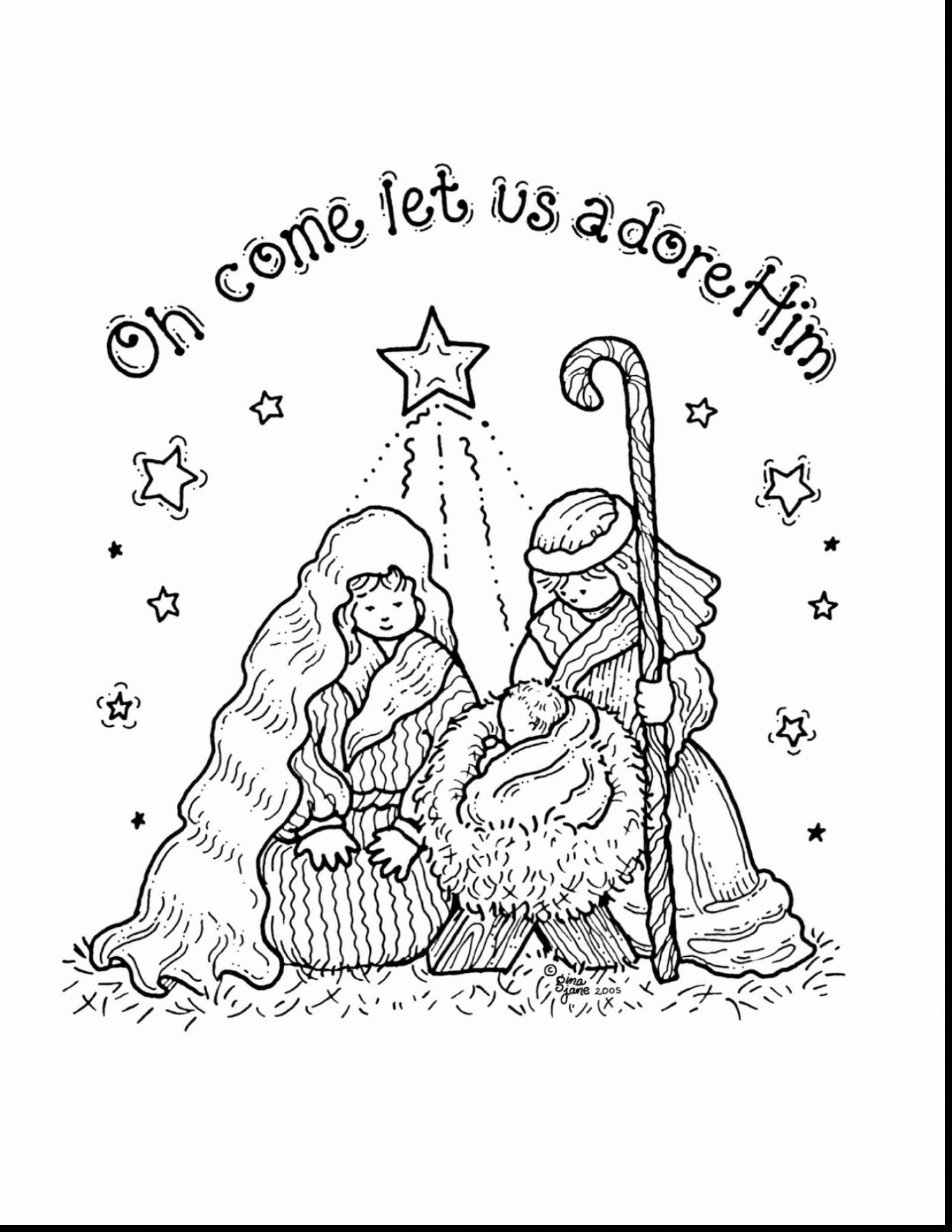1360x1760 Majestic Design Christmas Nativity Coloring Pages Printable Free