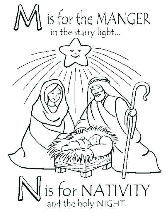 570x737 Manger Coloring Page Free Nativity Coloring Sheet Nativity Scene