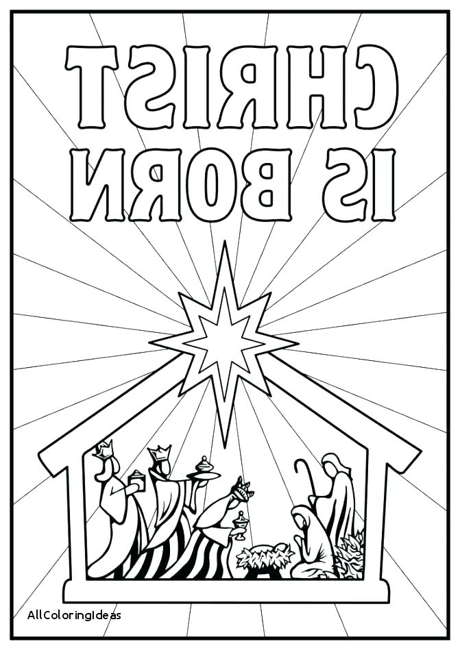 671x949 Manger Coloring Pages Color Therapy Law Attraction Nativity Scene
