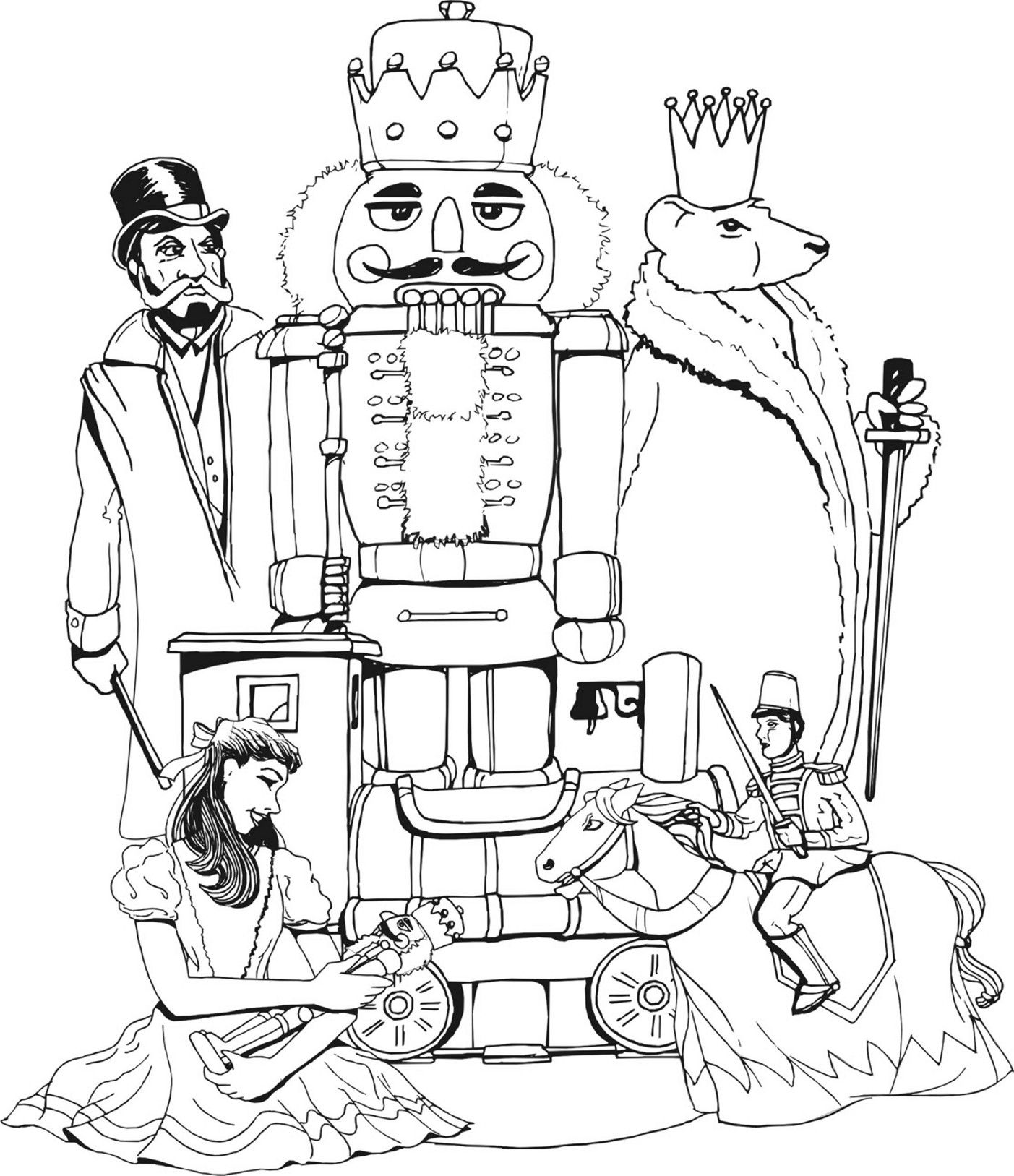 1403x1627 Coloring Page To Do While Listening To Nutcracker Homeschooling