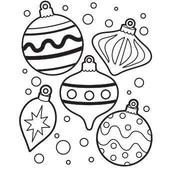 340x340 Christmas Ornament Coloring Pages Images
