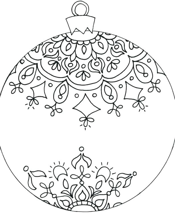 615x769 Christmas Ornaments Coloring Pages Ornaments Coloring Page