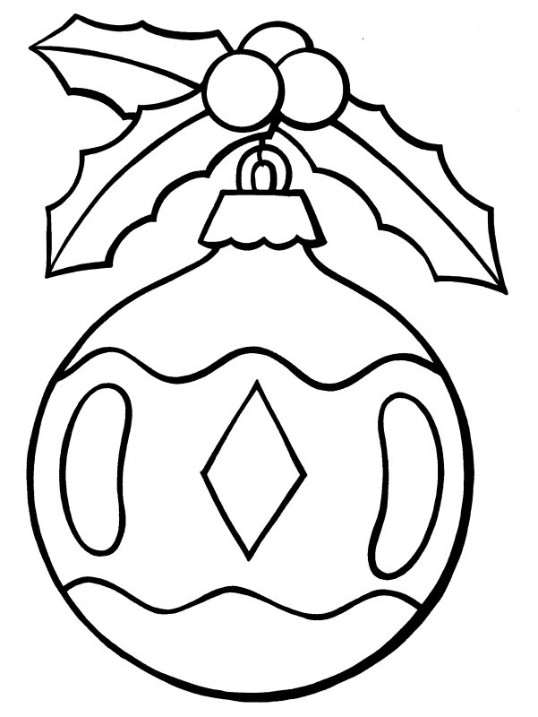 601x800 Christmas Ornaments Coloring Pages Elegant Christmas Ornament