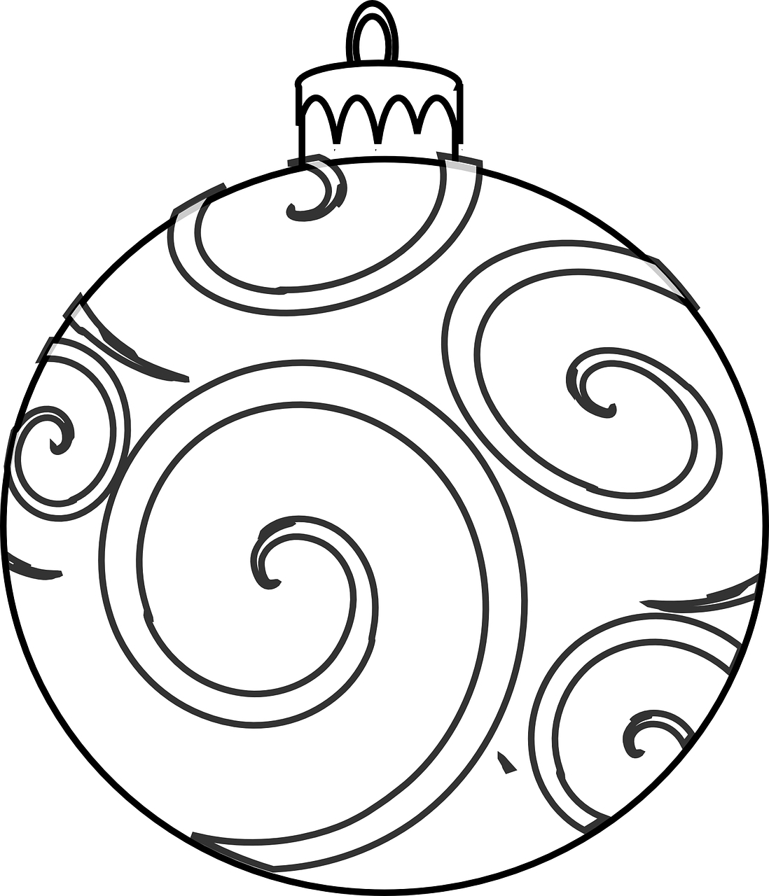 1098x1280 Coloring Page Christmas Ornament Pages For Adults To Print