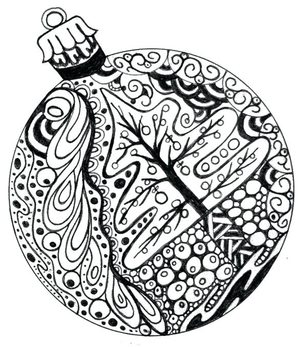 600x679 Coloring Pages Of Christmas Ornaments Free Coloring Pages