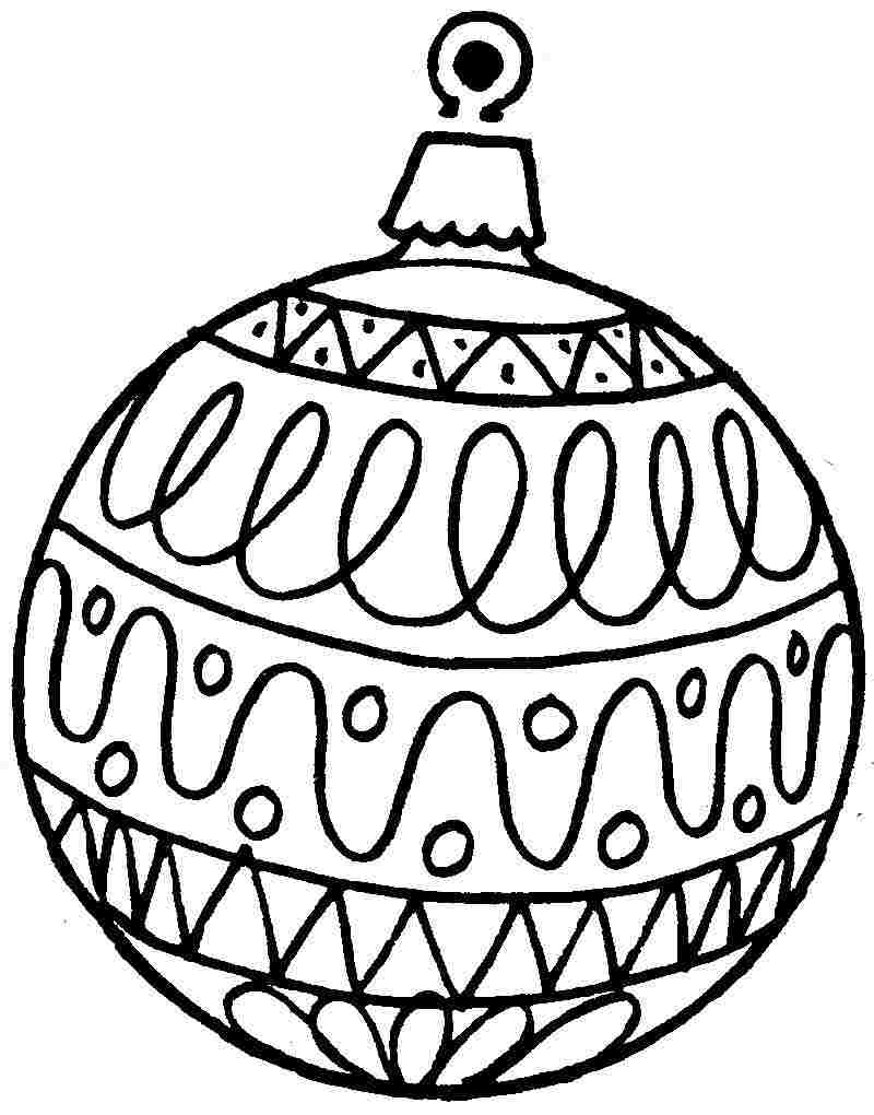 800x1020 Printable Christmas Ornament Coloring Pages