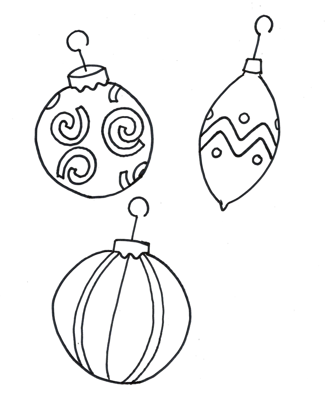 2440x2965 Printable Coloring Pages Christmas Ornament Free Christmas