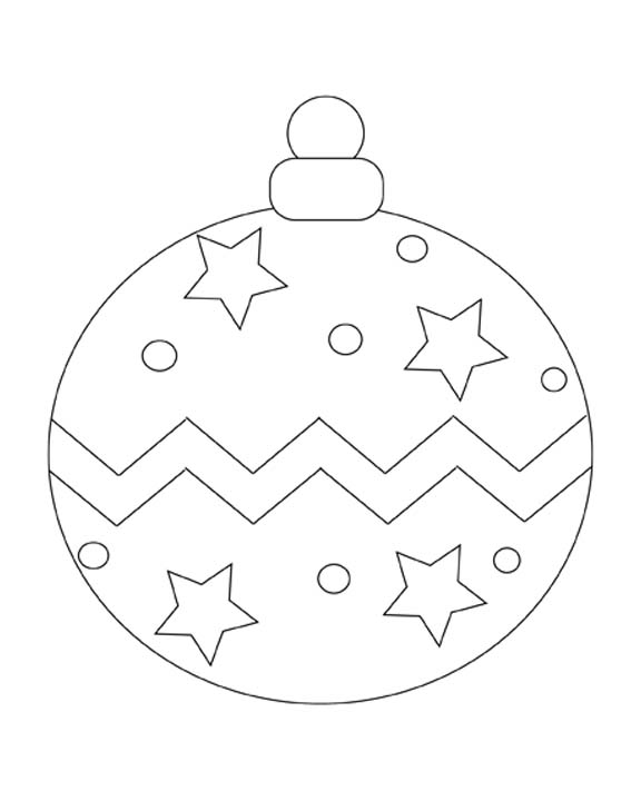 576x720 Christmas Ornament Coloring Page