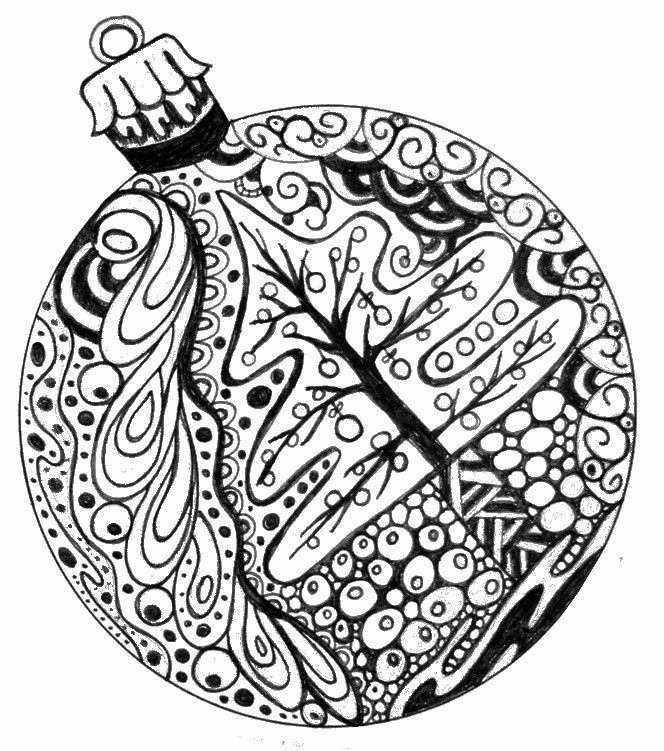 Christmas Ornament Coloring Pages Free