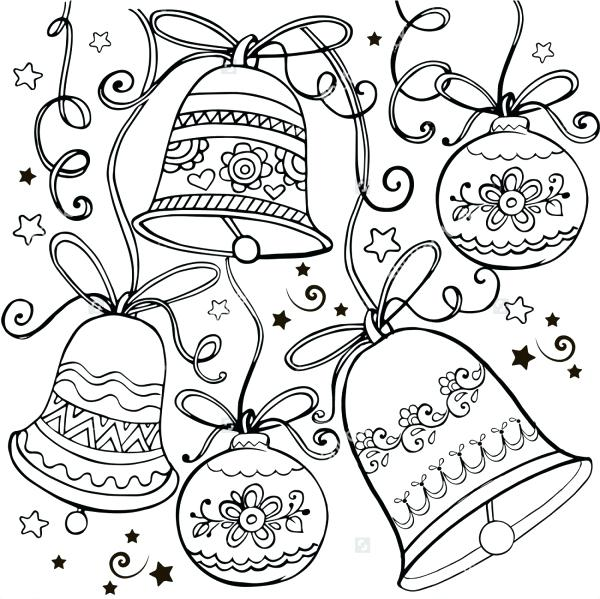 600x599 Christmas Ornaments Coloring Pages Coloring Pages Vector Download