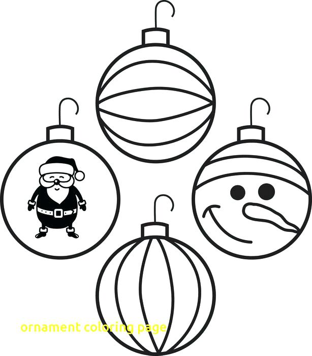 614x700 Coloring Pages Christmas Ornaments Printable Tree Coloring Tree