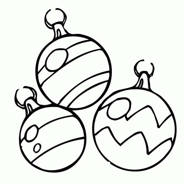 640x635 Coloring Pages For Christmas Ornaments Page Free Recipes
