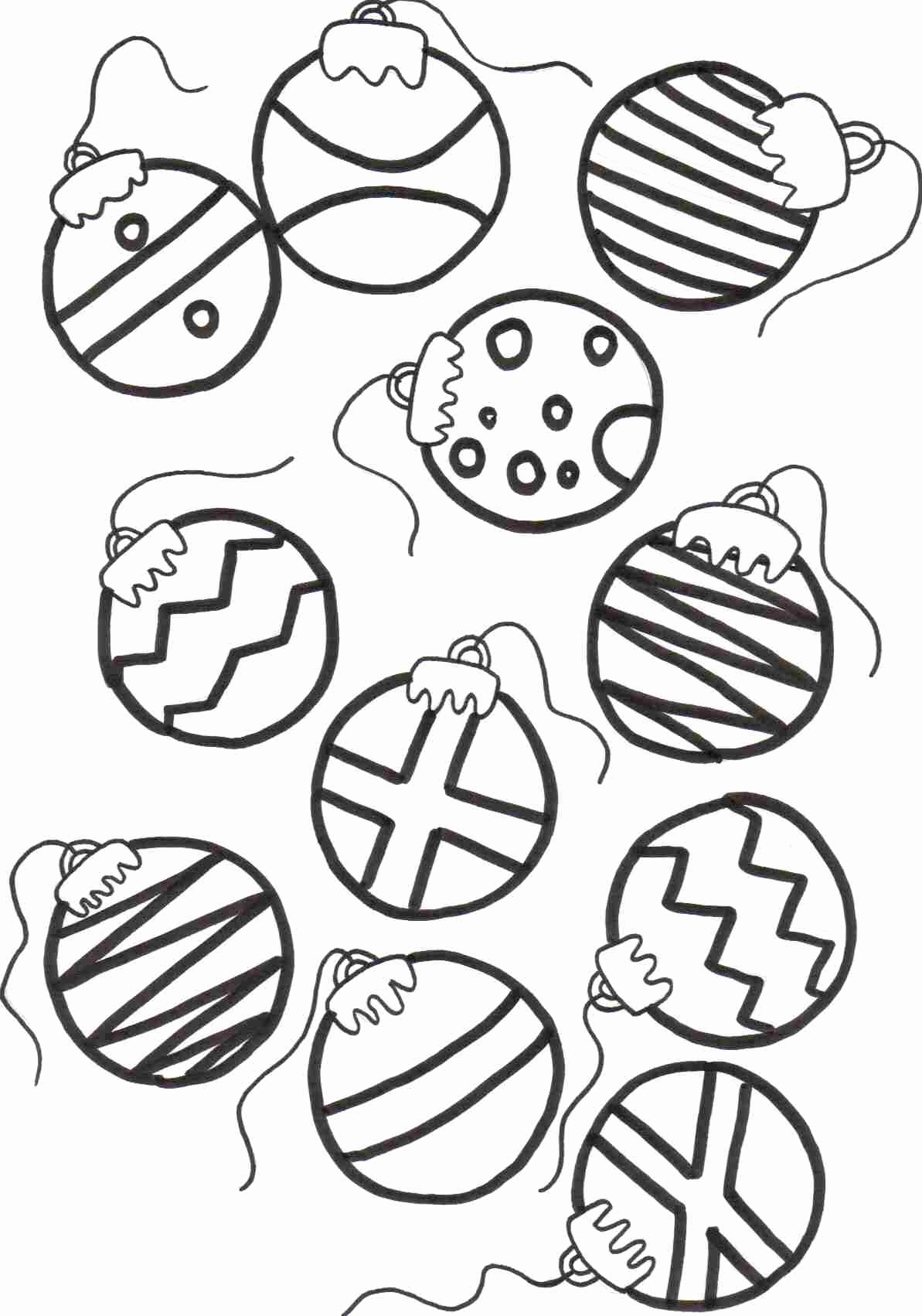 1193x1702 Christmas Coloring Pages Ornaments Fun Time