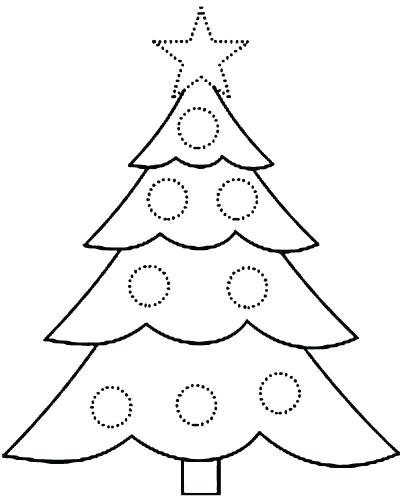 404x500 Free Printable Christmas Tree Coloring Pages Medium Size Of Tree