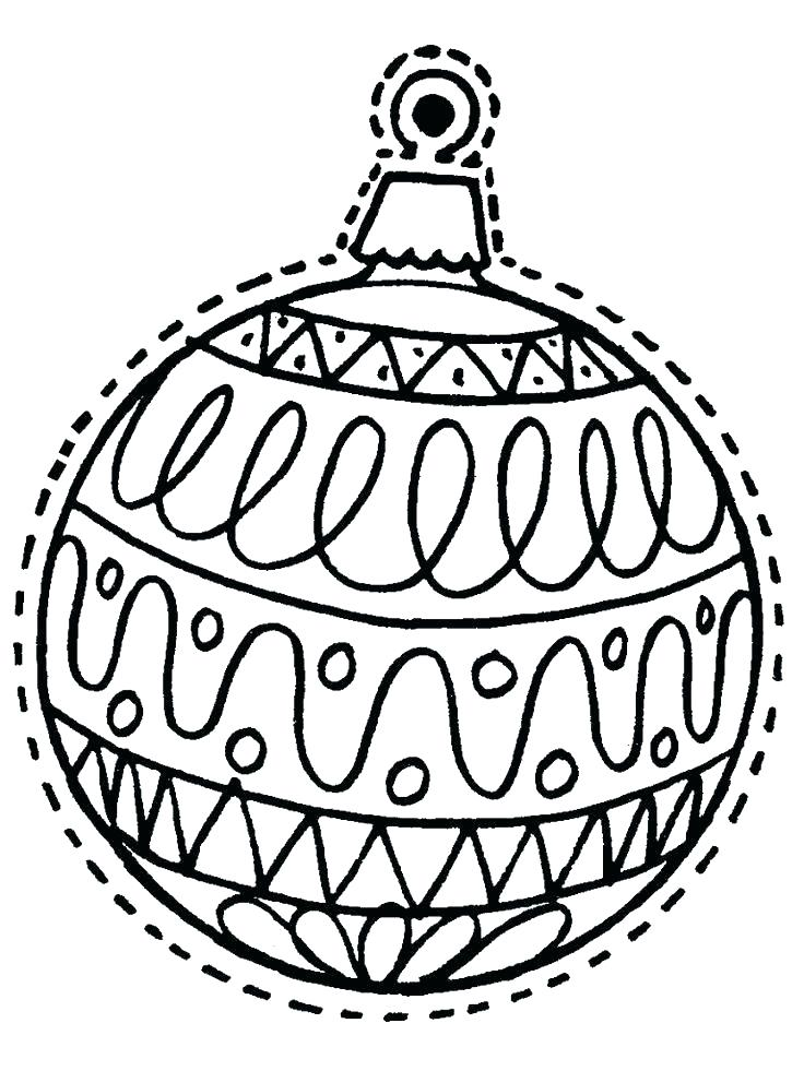 736x981 Printable Christmas Ornaments Coloring Pages Coloring Pages Tree