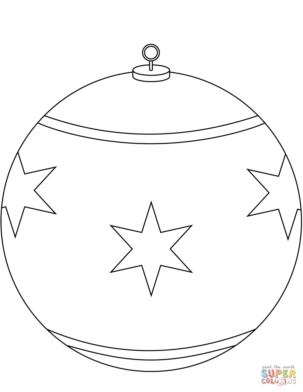 Christmas Ornament Coloring Pages Free At Getdrawings Com