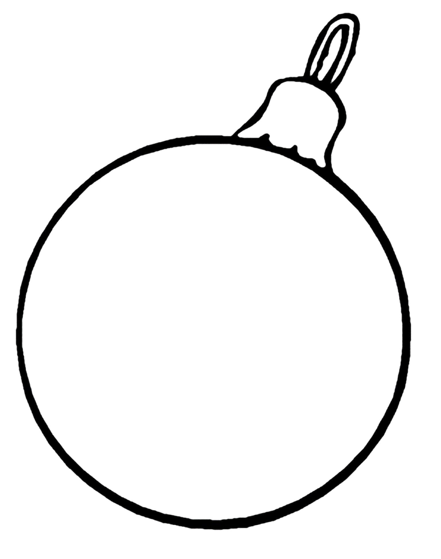 1536x1944 Christmas Ornament Coloring Page Free Printable Pages Inside