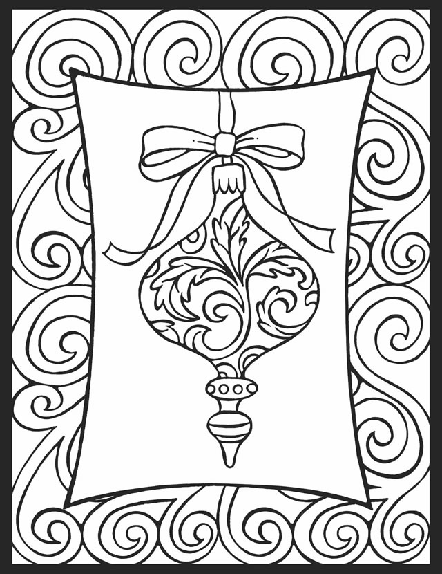640x830 Christmas Ornament Coloring Pages