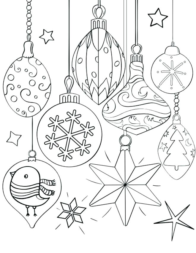 660x853 Christmas Ornaments Coloring Page Ornaments Coloring Page Best
