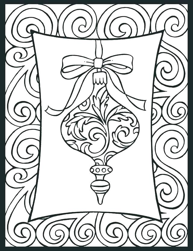 640x830 Christmas Ornaments Color Pages Ornaments Coloring Pages Christmas