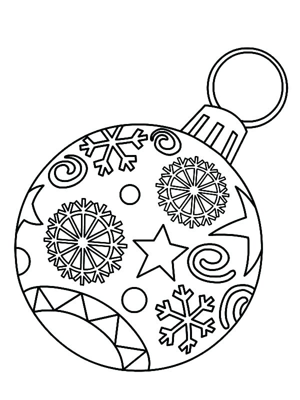 600x800 Christmas Ornaments Coloring Pages Printable Ornaments Coloring