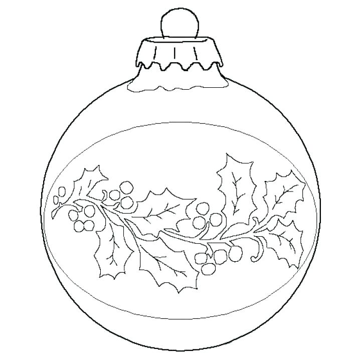 704x704 Coloring Pages Christmas Ornaments Printable Ornament Coloring