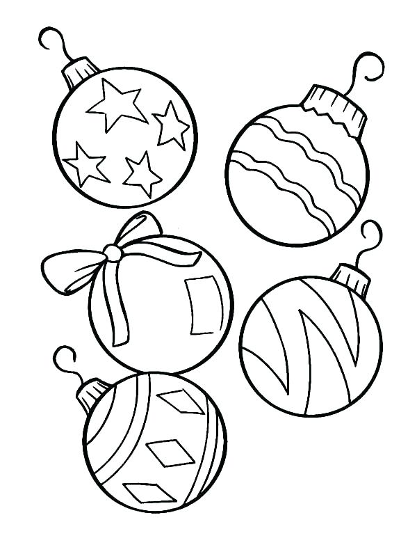 600x783 Coloring Pages Christmas Ornaments Printable Ornaments Ornaments