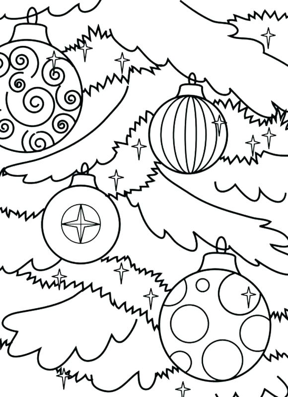 580x797 Coloring Pages Of Christmas Ornaments Ornament Coloring Pages Tree