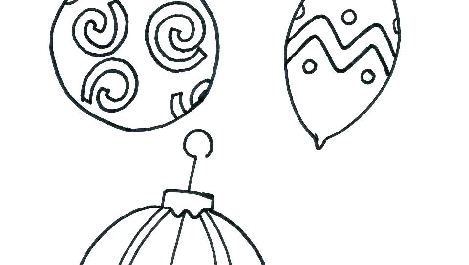 960x544 Ornament Coloring Pages To Print Ornament Coloring Page Cut Out