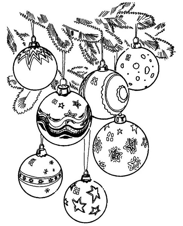 600x738 Printable Christmas Tree Ornaments Coloring Pages Fun For Christmas