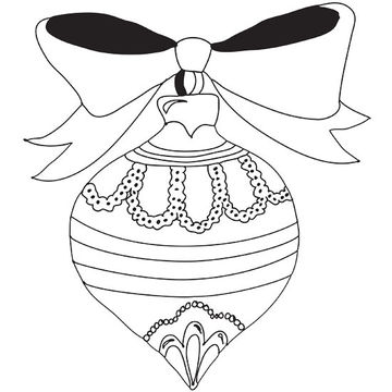 360x360 Christmas Ornament Coloring Pages Free Celebrations Coloring