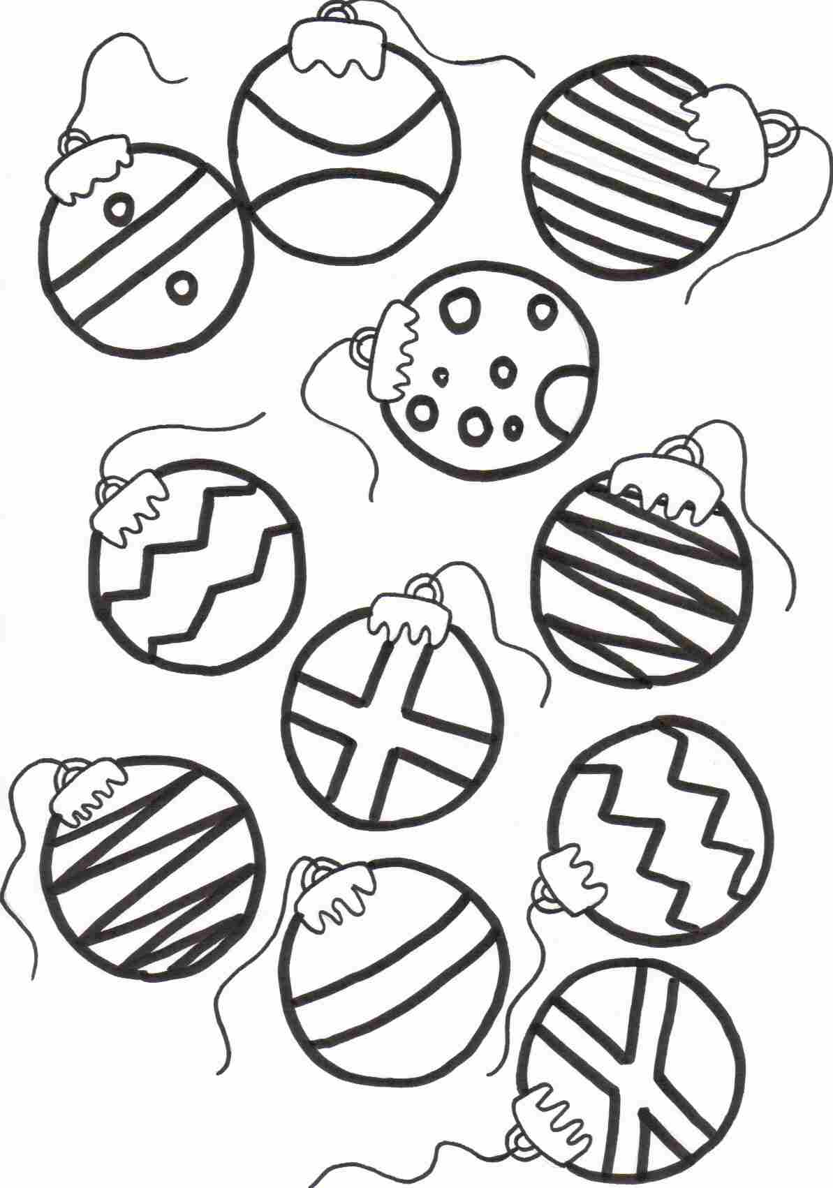 1193x1702 Christmas Ornament Coloring Pages With Wallpapers Wide Ornament