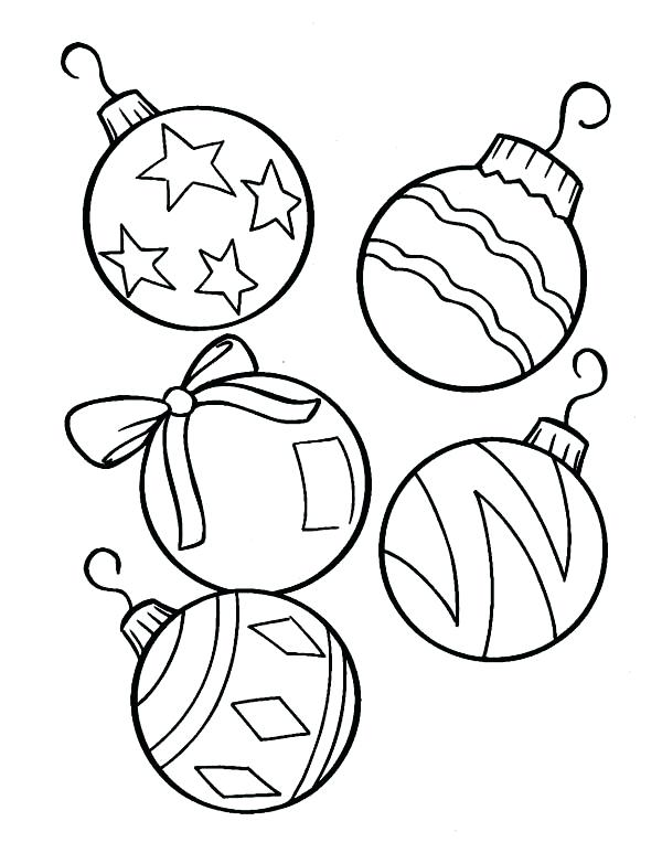 Christmas Ornaments Coloring Pages Printable at GetDrawings ...