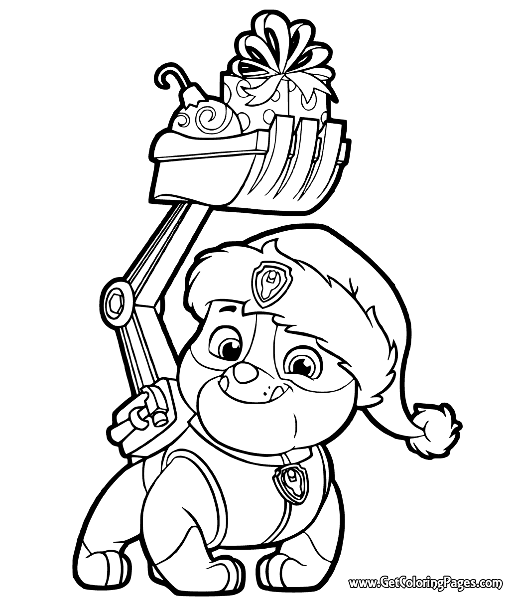 Christmas Paw Patrol Coloring Pages At Getdrawings Com Free For
