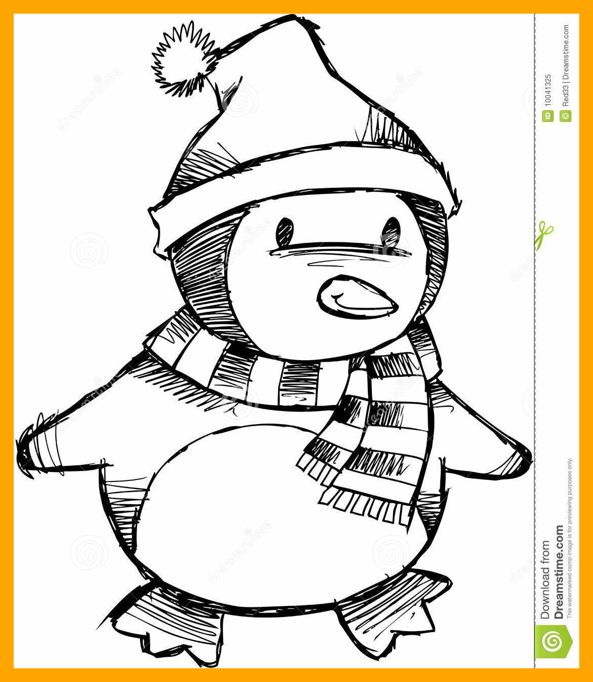Christmas Penguin Coloring Pages