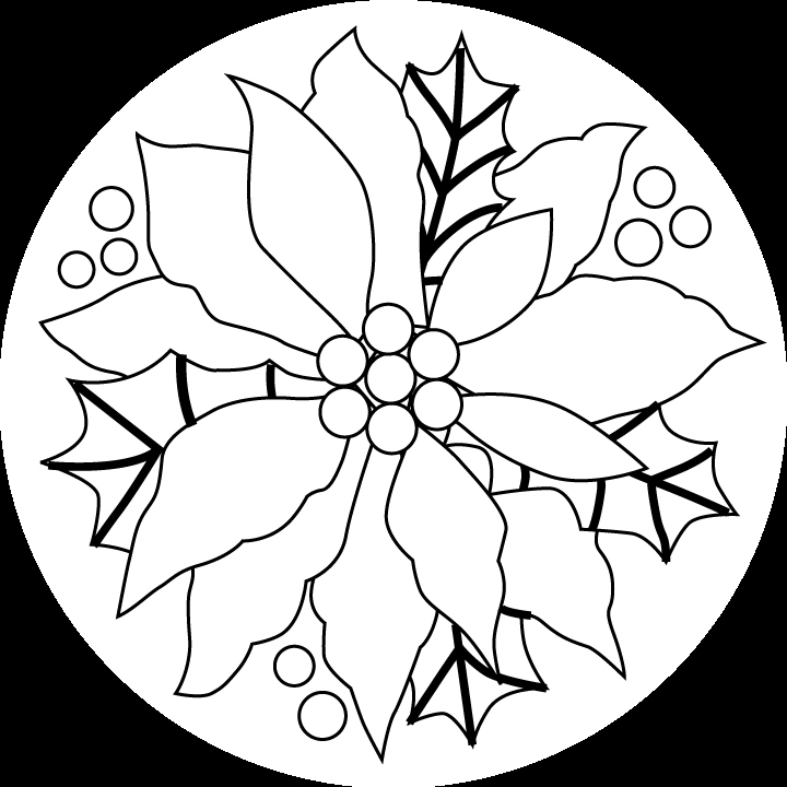 720x720 Poinsettia Coloring Page Beautiful Poinsettia Outline Coloring