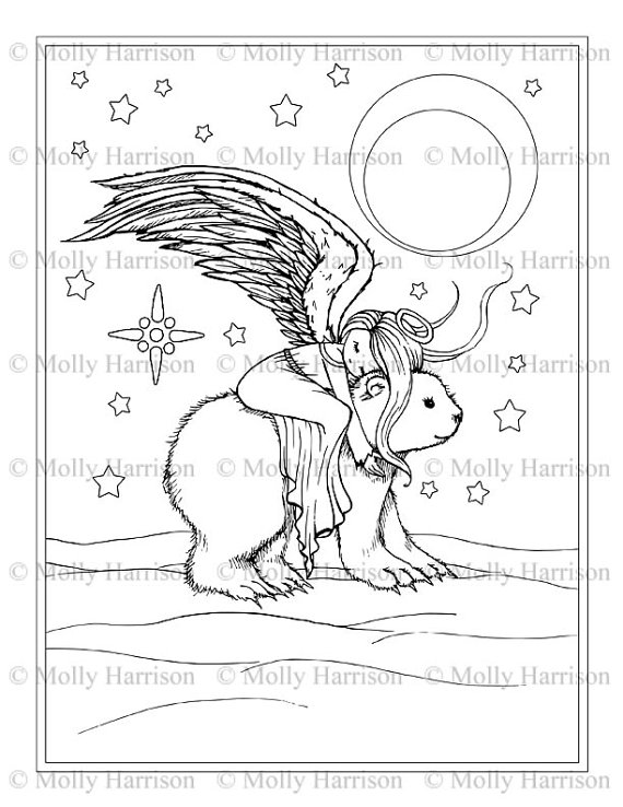 Christmas Polar Bear Coloring Pages