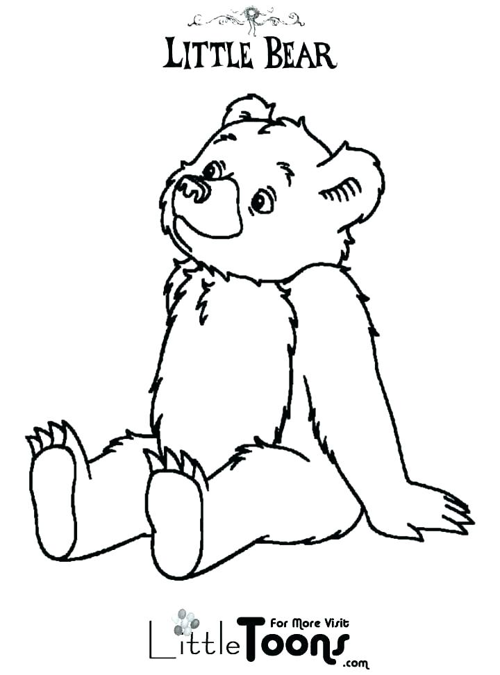 720x972 Little Bear Coloring Pages Bear Coloring Pages Little Bear