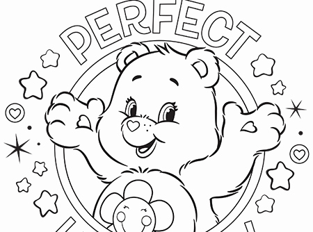 450x334 Perfect Harmony Care Bears Coloring Page Christmas Polar Bear