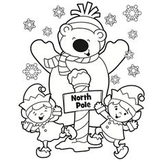 236x236 Polar Bear Christmas Coloring Pages Festival Collections