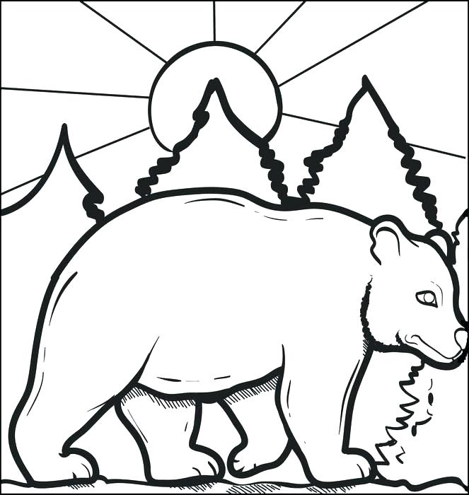 663x700 Polar Bear Coloring Page Polar Bear Coloring Pages For Polar Bear