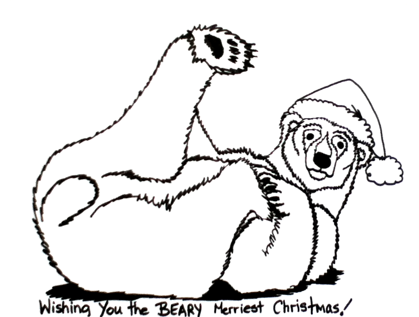 832x631 Polar Bear Coloring Pages
