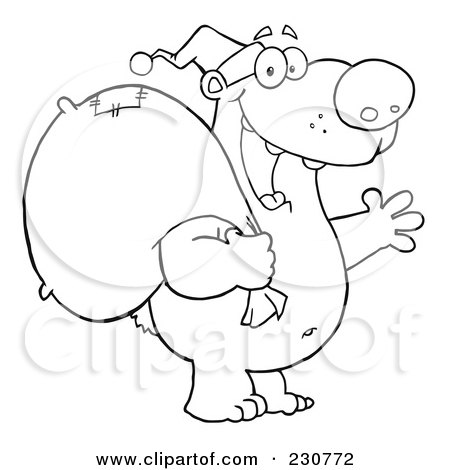 450x470 Christmas Polar Bear Coloring Pages