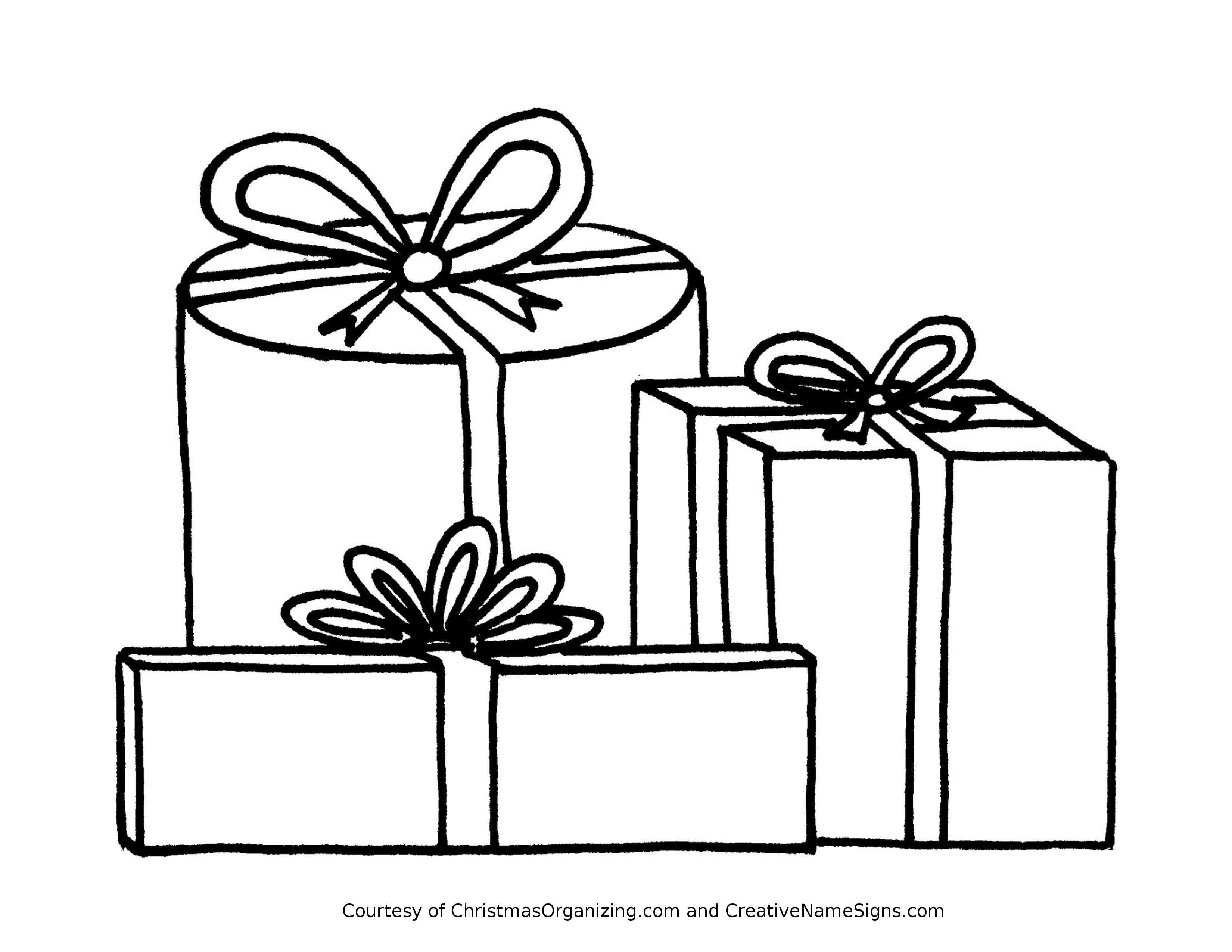 Christmas Present Coloring Pages For Kids At Getdrawings Free Download