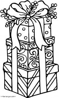 Christmas Present Printable Coloring Pages