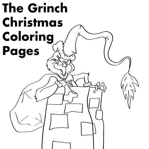 520x520 Grinch Christmas Printable Coloring Pages Holidappy