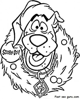 276x338 Print Out Scooby Doo Wreath Christmas Coloring Pages